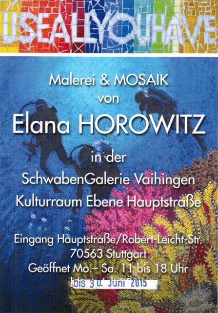 Malerei und Mosaik von Elana Horowitz