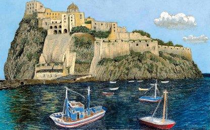 Pastell-Zeichnung  |  Ischia