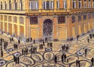 Pastell-Zeichnung  |  Galeria Umberto in Neapel