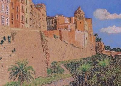 Pastell-Zeichnung |  Altstadt von Cagliari